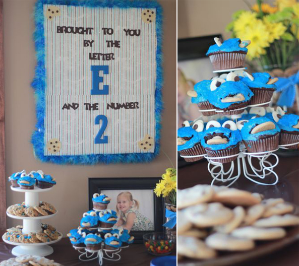 Cookie monster birthday party theme