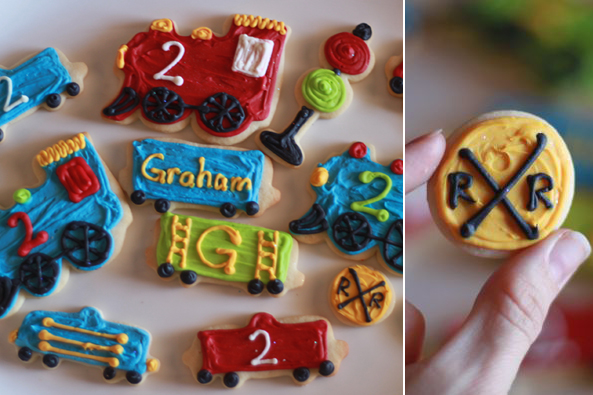 train party cookies